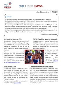 Tri Ligue Infos Mai 2017 Page 1