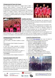 Tri Ligue Infos   Octobre 2016   Page 2