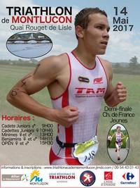 2017 Demi Triathlon Jeunes Montlucon