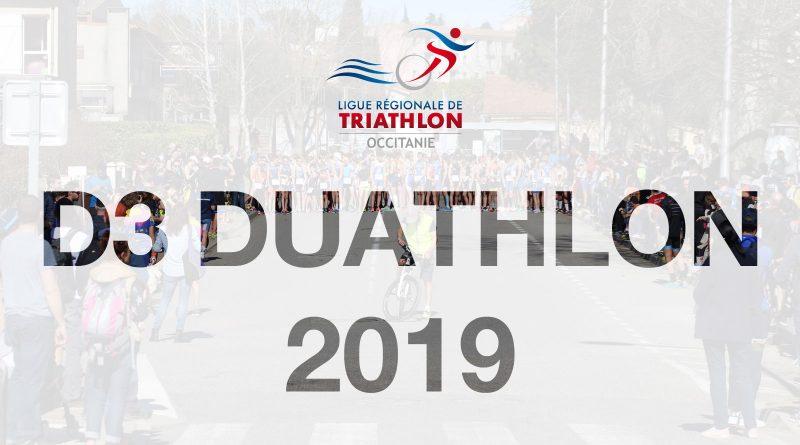 Liste des inscrits D3 Duathlon 2019