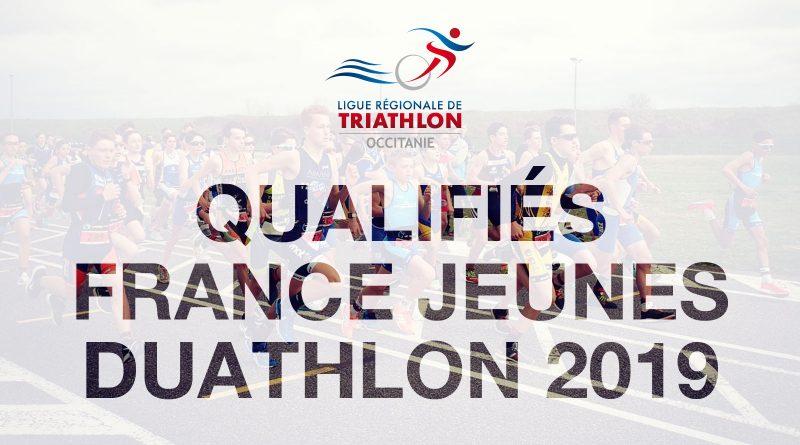 Liste des qualifiés Championnat de France de Duathlon Jeunes 2019