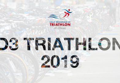Classement final D3 Triathlon 2019