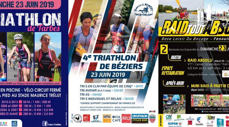 Courses à venir week-end du 23 juin 2019