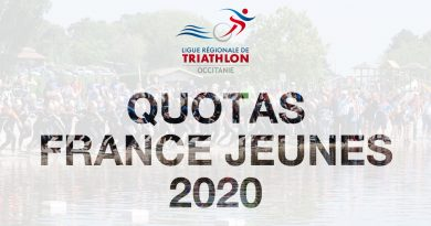 Quotas Championnats de France Jeunes 2020