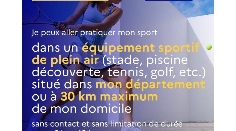 Mise à jour des mesures pour le Sport 09/04/2021
